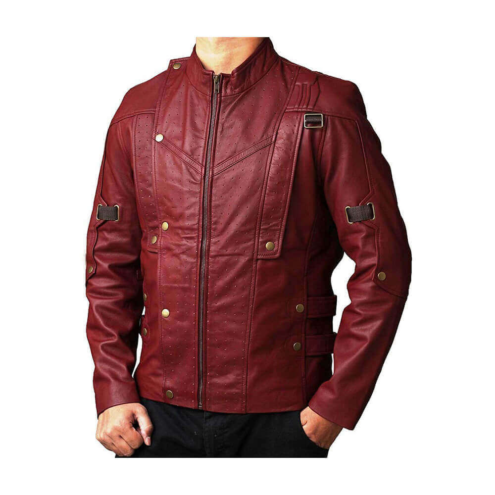 Guardians Of The Galaxy 2 Star Lord Chris Pratt/'s Style Faux Leather Jacket